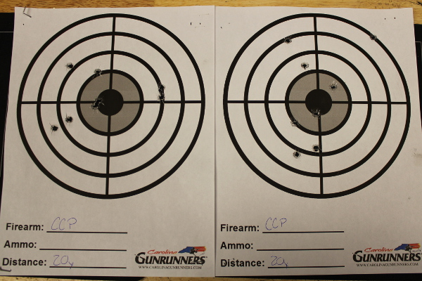 Walther CCP 20 Yard Groups