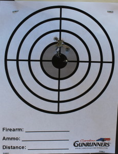 First magazine shot through the P30sk at 7 yards.