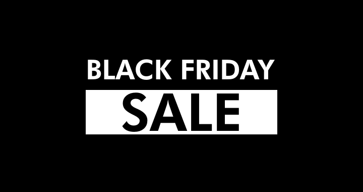 Black Friday Sale 11/19 through 11/24 – Closed Thanksgiving