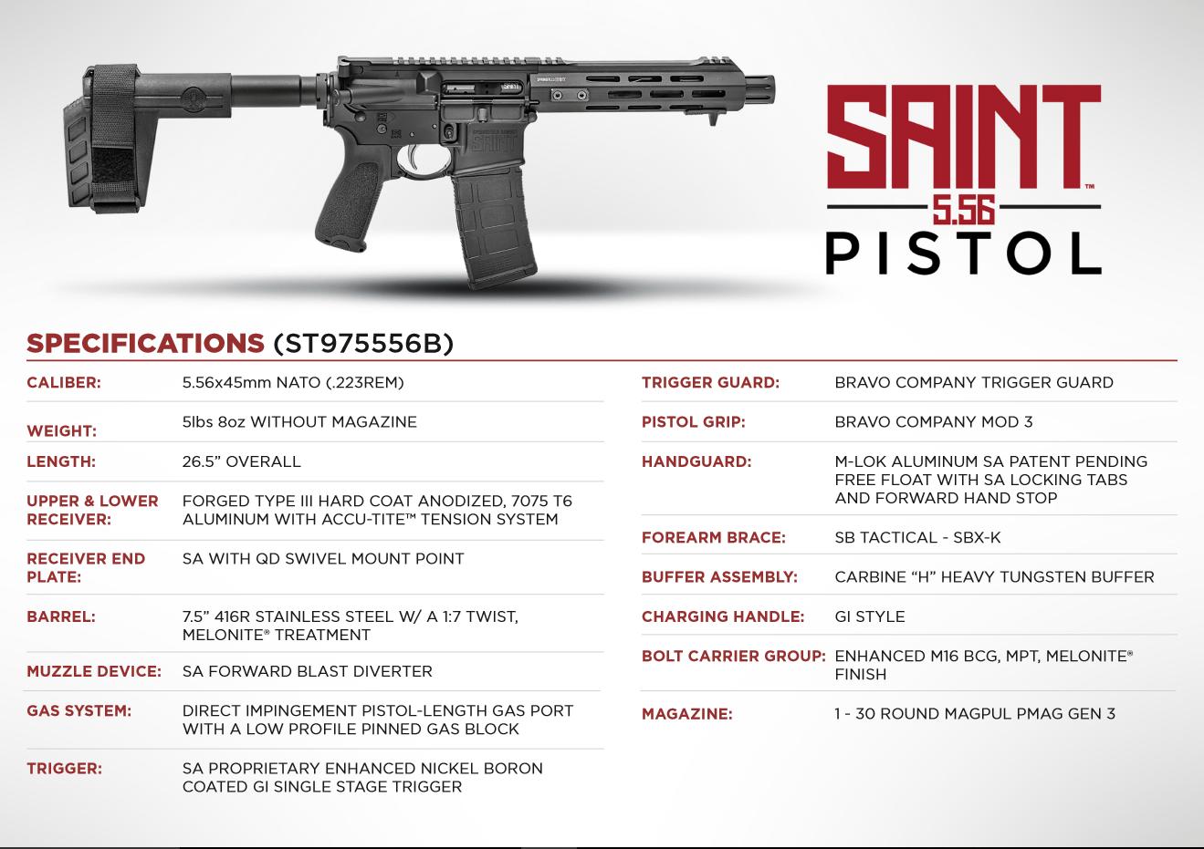 Springfield Saint Pistol 5.56